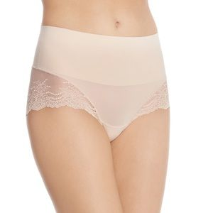 (2) SPANX Undie-tectable Lace Hi-Hipster Panty